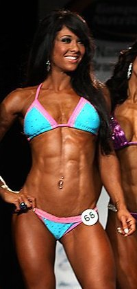 Jackie - After 10 weeks of training. Won fourth  in her NPC Bikini competition