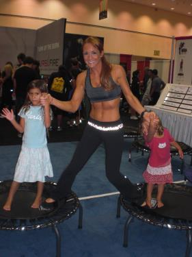 LA Fitness Convention with Jumpsport Trampoline
