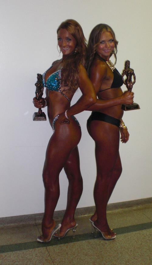 I placed fourth in Figure and my client Ashley placed second at her first Bikini Competition